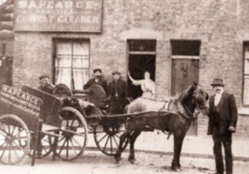 Chimney sweeps with horse and cart